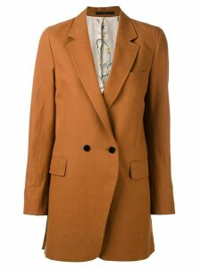 Paul Smith double-breasted midi coat - Brown