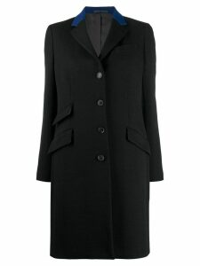 Paul Smith fitted single-breasted coat - Black