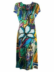 Paul Smith printed midi dress - Blue