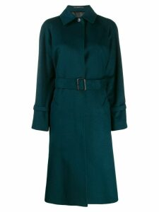 Paul Smith belted single-breasted coat - Blue