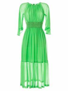 Kitx The Fellowship silk midi dress - Green