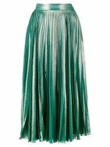 Gucci pleated metallic skirt - Green