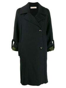 Marni off-centre fastening pea coat - Blue