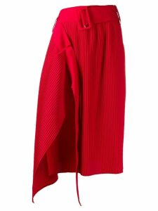 Rokh pleated asymmetric skirt - Red