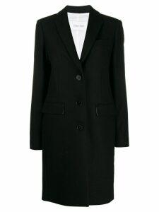 Calvin Klein single breasted midi coat - Black