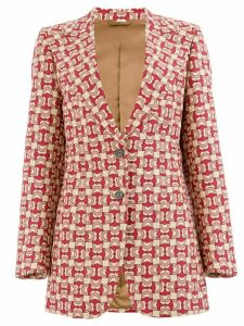 Gucci horsebit jacquard blazer - Red