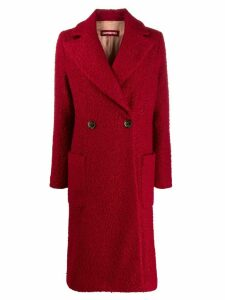 Guardaroba boxy textured double-breasted coat