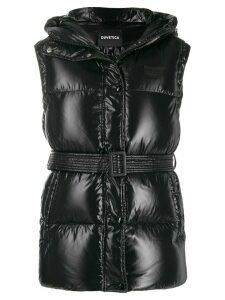 Duvetica sleeveless belted puffer jacket - Black