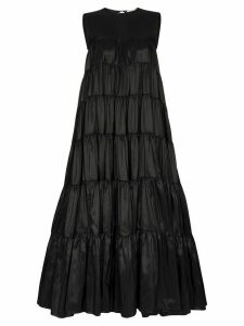 Cecilie Bahnsen sleeveless tiered maxi dress - Black