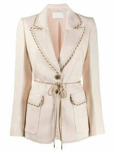 Peter Pilotto single-breasted cord detail blazer - NEUTRALS