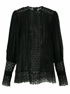 Zimmermann embroidered long-sleeved blouse - Black