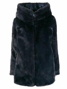 Save The Duck faux fur hooded coat - Blue