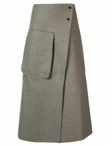 Studio Nicholson Hiro flared midi skirt - Grey