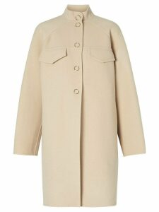 Burberry Wool Cashmere Tailored Coat - NEUTRALS
