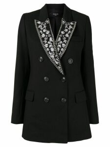 Amiri double-breasted embroidered blazer - Black