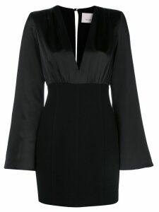 Cinq A Sept Sandy contrast mini dress - Black