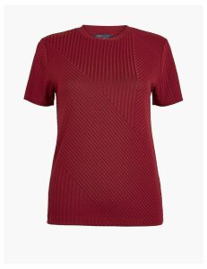 M&S Collection Ribbed Round Neck T-Shirt