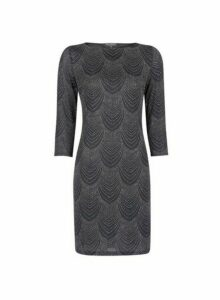 Womens **Billie & Blossom Black Deco Shift Dress, Black
