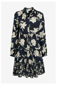 Womens FatFace Black Ariana Silhouette Floral Dress -  Black