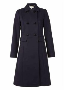 Petite Corrine Wool Blend Coat Navy