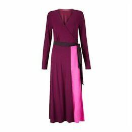 Boden Laurie Jersey Dress, Beetroot/Multi