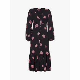 Ghost Astrid Floral Dress, Floral Cluster