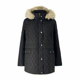 Lauren Ralph Lauren Curve Quilted Anorak Hooded Coat, Black