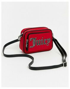 Juicy Couture logo cross body in red stud