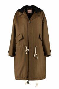 Plan C Single-breasted Wool Coat