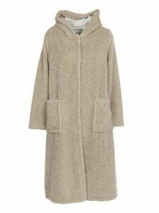 Forte Forte White Long Faux Fur Coat