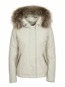 Woolrich Short White Arctic Parka