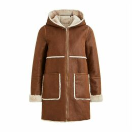Jacket with Sheepskin Hood
