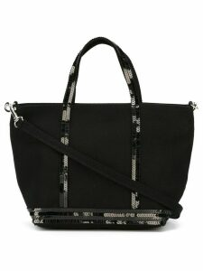 Vanessa Bruno small sequin trim shopping tote - Black