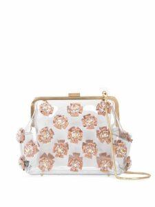 Zac Zac Posen Love Floral frame clutch - White
