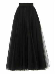 Dolce & Gabbana - A Line Layered Tulle Midi Skirt - Womens - Black
