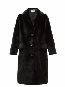Stand Studio - Theresa Single Breasted Faux Fur Coat - Womens - Black