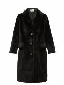 Stand Studio - Theresa Single-breasted Faux-fur Coat - Womens - Black