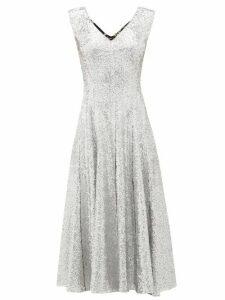 Norma Kamali - Grace Sequinned Midi Dress - Womens - Silver Multi
