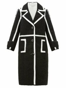 Stand Studio - Kenzie Patent-edged Faux-shearling Coat - Womens - Black