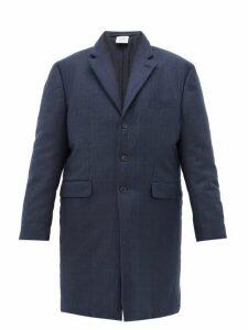 Vetements - Padded Plaid Tailored Coat - Womens - Navy