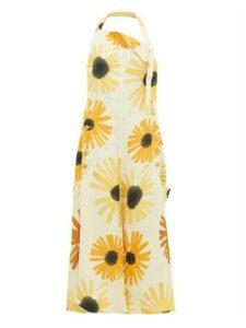 Jacquemus - Tablier Sunflower Print Open Back Apron Dress - Womens - Yellow Multi