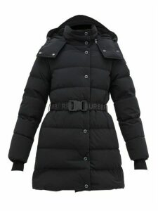 Burberry - Eppingham Logo Patch Quilted Shell Coat - Womens - Black