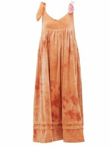 Story Mfg - Daisy Tie Dye Cotton Velvet Dress - Womens - Pink