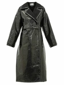 Stand Studio - Marissa Faux Shearling Trench Coat - Womens - Black