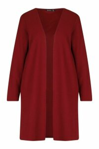 Womens Longline Duster - red - 14, Red