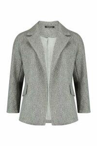 Womens Wool Look Blazer Coat - grey - 14, Grey