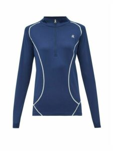 Perfect Moment - Half Zip Roll Neck Technical Jersey Top - Womens - Navy