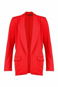 Womens Tailored Blazer - 14, Red