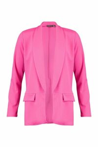 Womens Tailored Blazer - Pink - 14, Pink