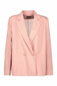 Womens Premium Double Breasted Blazer - Pink - 12, Pink